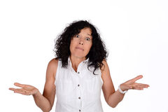 Mujer no entender foto de archivo libre de regalías