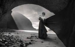 Mujer nostálgica Imagenes de archivo