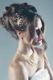 Mujer nupcial de la moda Imágenes de archivo libres de regalías