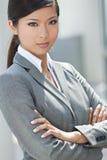 Mujer o empresaria china asiática hermosa Imágenes de archivo libres de regalías