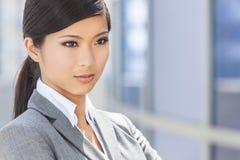 Mujer o empresaria china asiática hermosa Fotografía de archivo libre de regalías