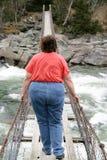 Mujer obesa Fotos de archivo libres de regalías