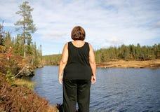 Mujer obesa Imagen de archivo libre de regalías