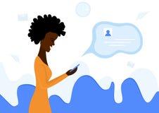 Mujer ocupada ilustración del vector