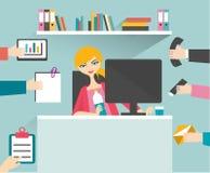 Mujer ocupada de la secretaria libre illustration
