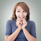 Mujer oriental sorprendida Foto de archivo