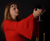 Mujer pagana Imágenes de archivo libres de regalías