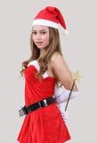 Mujer Papá Noel Imagenes de archivo