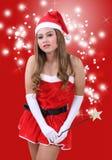 Mujer Papá Noel Imagen de archivo libre de regalías