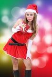Mujer Papá Noel Imágenes de archivo libres de regalías