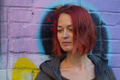 mujer pelirroja joven Fotos de archivo libres de regalías