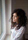 Mujer pensativa Imágenes de archivo libres de regalías