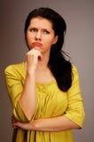 Mujer pensativa fotos de archivo