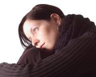 Mujer pensativa Fotos de archivo libres de regalías
