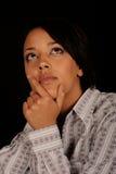 Mujer pensativa Imagen de archivo libre de regalías