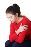 Mujer pensativa con problema o la depresión Foto de archivo libre de regalías