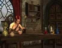 Mujer pensativa en el vector Foto de archivo libre de regalías
