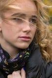 Mujer pensativa triste Imagen de archivo