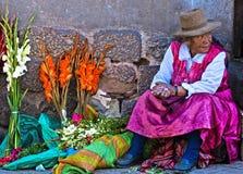Mujer peruana Foto de archivo libre de regalías