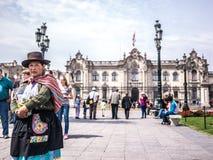 Mujer peruana Foto de archivo