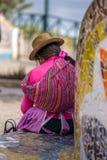 Mujer peruana en Lima fotos de archivo libres de regalías