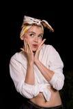 Mujer Pin-para arriba Fotos de archivo