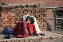 Mujer pobre nepalesa Foto de archivo