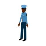 Mujer policía isométrica negra Ilustración del Vector