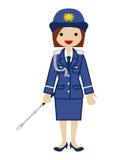 Mujer policía japonesa Imágenes de archivo libres de regalías
