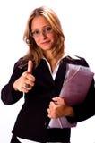 Mujer positiva foto de archivo libre de regalías