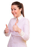 Mujer positiva joven imagen de archivo libre de regalías