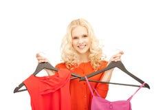 Mujer preciosa con ropa Imagen de archivo libre de regalías