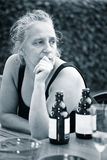 Mujer preocupada Fotografía de archivo