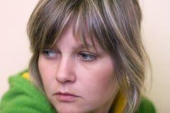 Mujer preocupante Fotos de archivo