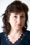Mujer preocupante fotografía de archivo libre de regalías