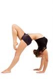 Mujer profesional joven del gimnasta Imagen de archivo libre de regalías