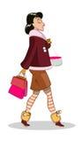 Mujer que camina Imágenes de archivo libres de regalías