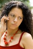 Mujer que consigue malas noticias Fotos de archivo