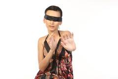 Mujer que descuida ver Fotos de archivo