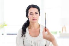 Mujer que es hipnotizada Foto de archivo libre de regalías