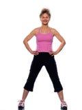 Mujer que estira postura foto de archivo libre de regalías