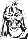 Mujer que grita Fotografía de archivo