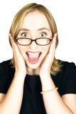 Mujer que grita Imagen de archivo libre de regalías