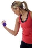 Mujer que hace ejercicio de la aptitud Imagen de archivo libre de regalías