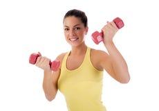 Mujer que hace ejercicio de la aptitud Foto de archivo