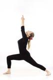 Mujer que hace ejercicio de la yoga Foto de archivo
