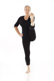 Mujer que hace ejercicio de la yoga Imagen de archivo