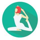 Mujer que hace el icono de la yoga Imagen de archivo