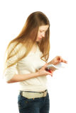 Mujer que hace notas Foto de archivo libre de regalías