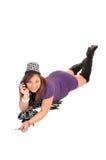Mujer que miente en suelo. Imágenes de archivo libres de regalías